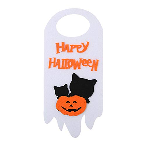 Felt Fabric DIY Halloween Decoration Hanging Tag Door Window Skull Festival Party Banners -