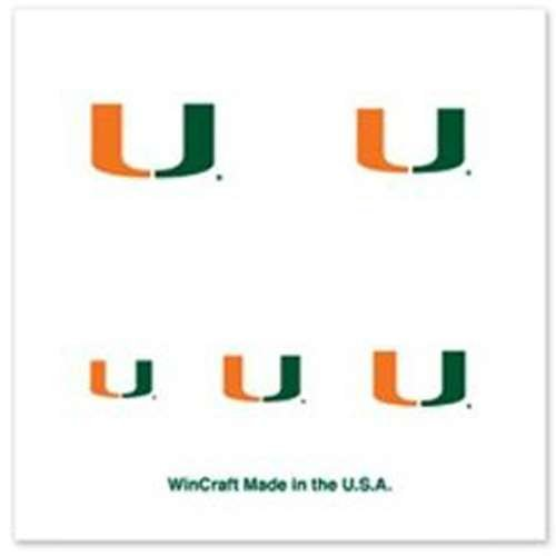 Miami Hurricanes 4-Pack Temporary Nail Tattoos ()