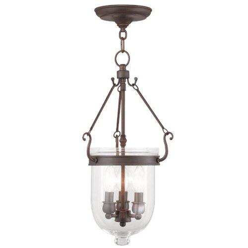 (Livex Lighting 5063-58 Jefferson 3-Light Hanging Lantern, Imperial Bronze)