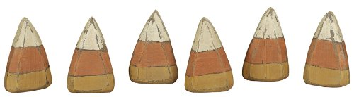 Primitives By Kathy Wood Hand Painted Candy Corn Set/6 (Primitive Halloween Wood Crafts)