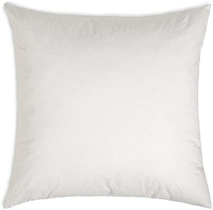 MoonRest Square Pillow Form Insert Hypoallergenic Sham Stuffer 100/% Polyester Microfiber Fill Lined with Woven Cotton Blend Cover for Decorative Pillow Couch Sofa Bed Cushions 12 X 12