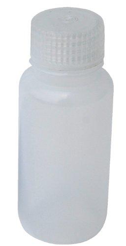 Vestil BTL-N-2 Narrow Mouth Low Density Polyethylene (LDPE) Round Plastic Bottle with Natural Cap, 2 oz Capacity, Translucent