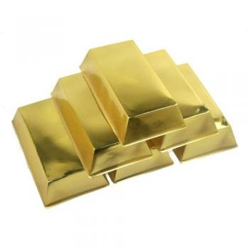 Gold Bar Decorations 6 Per Unit
