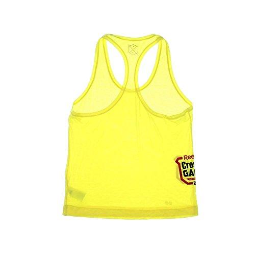 Reebok Women's Crossfit Performance Graphic Burnout Tank Top, Stinger Yellow, X-Small