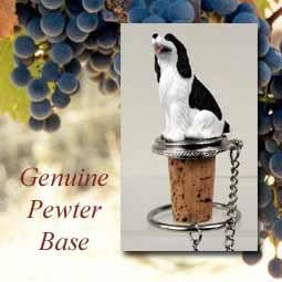 Springer Spaniel Black Wine Bottle Stopper - DTB22B by Conversation Concepts