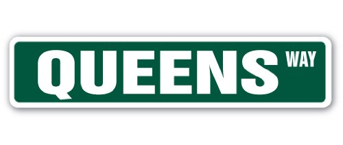 SignMission Queens, Ny Street Sign Nyc Brooklyn Borough New York | Indoor/Outdoor | 4