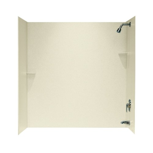 Swanstone SS00603.037 Solid Surface Glue-Up 3-Panel Bathtub Wall Kit, 30-in L X 60-in H, Bone