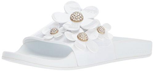 Daisy Womens Sandals (Marc Jacobs Women's Daisy Pave Aqua Slide Sandal, White, 37 M EU (7 US))
