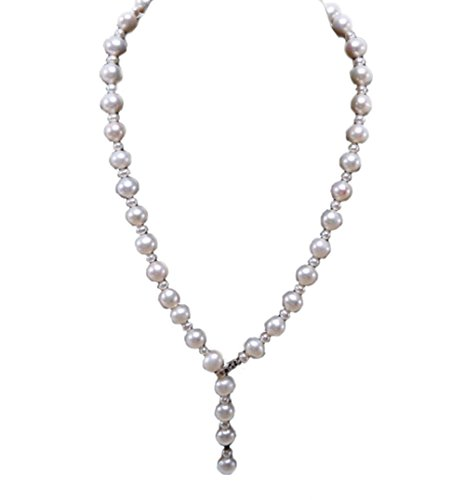 JYX AAA 10-11mm White Round Freshwater Pearl Necklace Strand (10mm White Round Pearl Necklace)