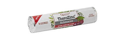 Quantum Health TheraZinc Echinacea Roll, Cherry Mint Lozenges, Made with Zinc Gluconate Immune Support, 14 Lozenges (Pack of 12) (Zinc Cherry)
