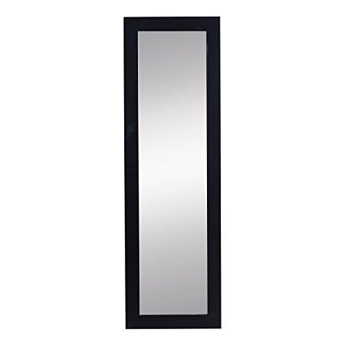 HomCom 48' Wall-Mounted Mirrored Jewelry Cabinet w/Shelves (Black)