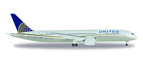 HERPA Wings 528238-001 United Airlines Boeing 787-9 Dreamliner 1/500 Scale (Herpa United Airlines)