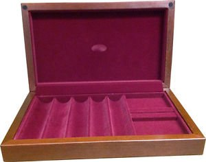 250 Chip American Made Wood Poker Case by Vegas Gaming Supplies