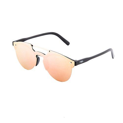 TWIG Rosa HOKUSAI Gafas Negro mujer espejo sol degradadas de hombre zZwva