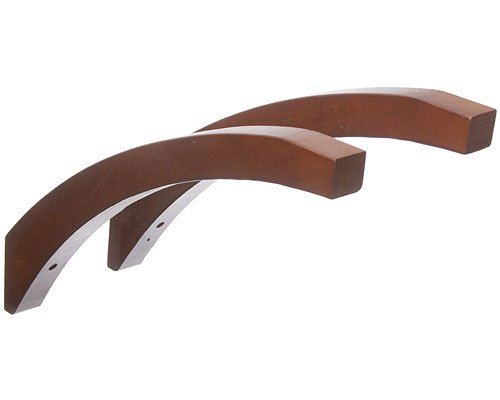 16 Inch Angled Wood Shelf Brackets Red Mahogany