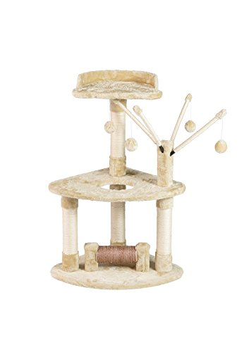 BuyHive Cat Tree Activity Play House Kitten Condo Perch Scratching Post w/Dangling Toy Review
