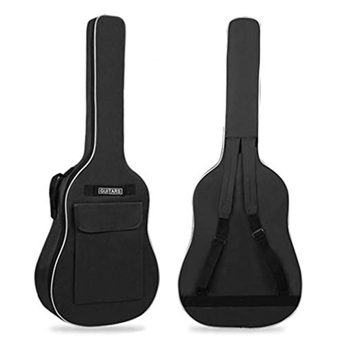 STAR RING Guitar Bag 41 Inch Universal Acoustic Guitar Performance Guitar Bag Thick Pad Oxford Cloth Double Adjustable Shoulder Strap Guitar Case, Black