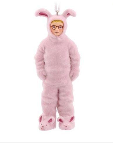 Hallmark A Christmas Story Ralphie in Bunny Suit Christmas Ornament - Ralphie's Pink Nightmare by Hallmark]()