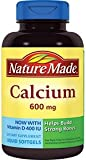Nature Made Calcium with Vitamin D3 -- 600 mg 100 Liquid Softgels (Pack of 2)