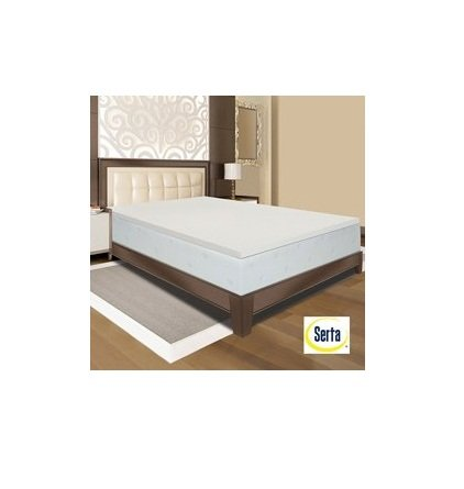 Amazon Com Serta Deluxe 2 Inch Memory Foam Mattress Topper Size