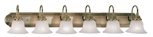 Livex Lighting 1006-01 Belmont 6-Light Bath Light, Antique Brass