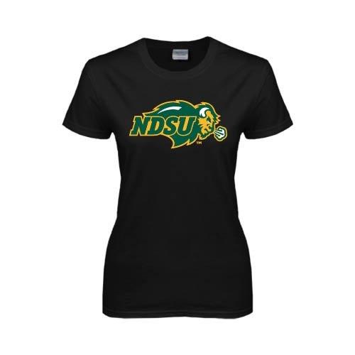 North Dakota State Ladies Black T Shirt 'NDSU Bison'