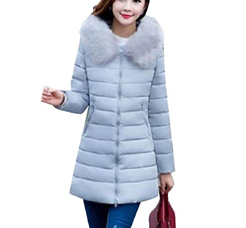 Grey with Thickened Faux Jacket EnergyWomen Anorak Oversized Fur Hood Brumal aqn1O