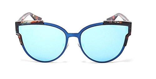 GAMT Unisex Cateye Non-Polarized Sunglasses UV400 Protection Floral Frame Blue - Polarised Sheet