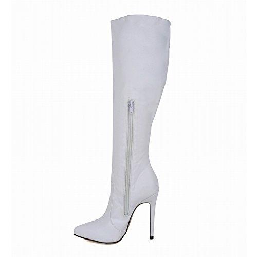 Fereshte Hot Selling Womens Simple Classic Stiletto Heel Overknee Long Knight Boot Matt White kVGVR
