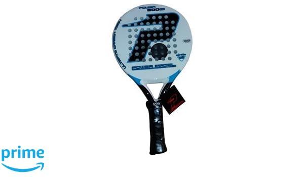 POWER PADEL 0516622 Pala, Unisex Adulto, Blanco/Negro/Azul, 38 mm: Amazon.es: Deportes y aire libre