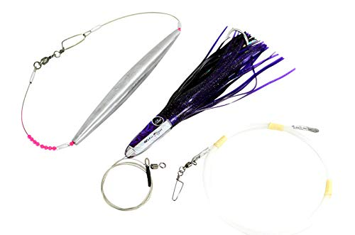 (High Speed Wahoo Lures - Wahoo Clippers (Purple, Rigged with Trolling Weight))