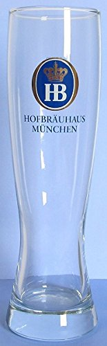 Hofbrauhaus Munchen Munich Wheat Beer Glass Oktoberfest Germany -