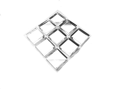 Square Glass 1/2 Mosaic (100 Pieces Mirror Tiles Mosaic Craft Tiles 1/2-Inch x 1/2 Inch)