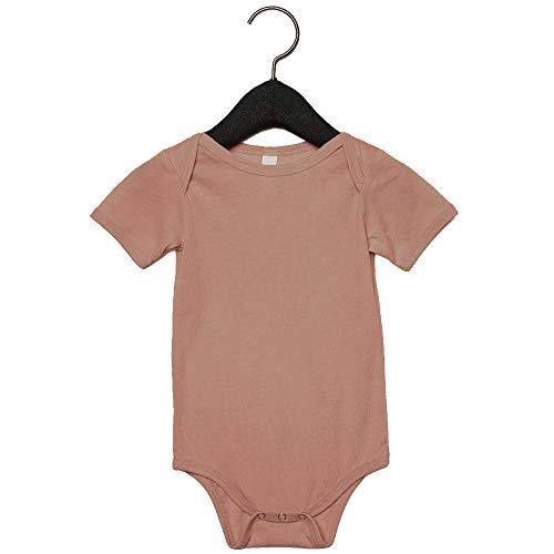 Bella + Canvas Unisex Baby Triblend Short Sleeve Onesie (12-18 Months) (Mauve Triblend) ()
