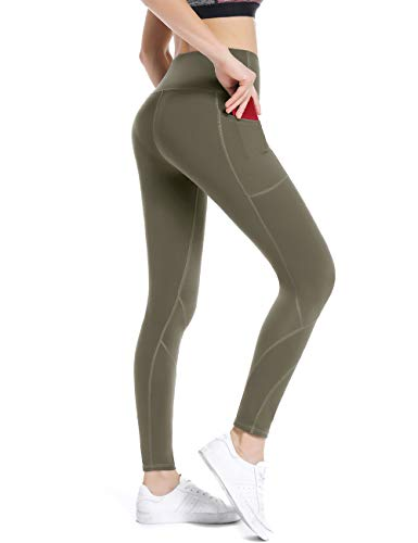 ALONG FIT Running Leggings for Women with Pockets High Waist Yoga Pants with Pockets for Women