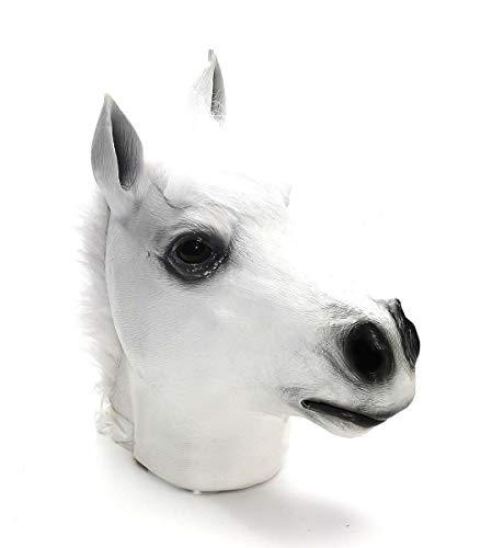 (Forum Novelties White Horse Deluxe Latex Farm Animal Costume Mask)