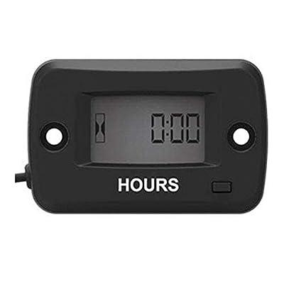 Jayron JR-HM019 Digital LCD Waterproof Gasoline Engine Hour Meter Maintenance Meter for Paramotors,Chainsaws,Generators,Mowesr,Model Boats: Automotive