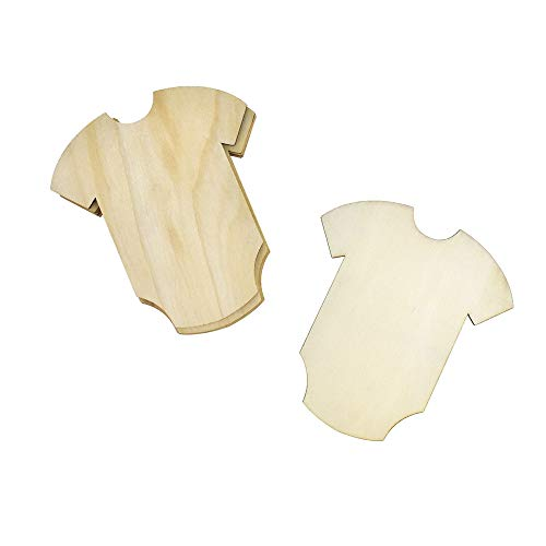 Homeford Baby Onesie Wooden Cut-Outs, 4-1/4-Inch, 6-Count