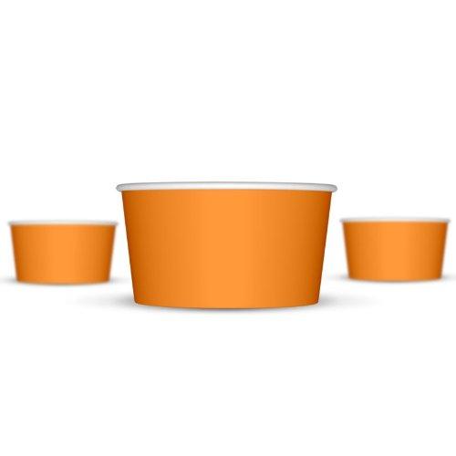 6 oz Paper Ice Cream Cups - 1,000 / Case (Orange)