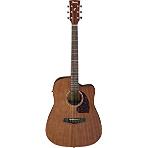 IBANEZ PF-Serie Westerngitarre Dreadnought Cutaway 6 String – Open Pore Natural (PF12MHCE-OPN)