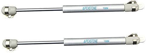 Apexstone 100N/22.5lb Cabinet Door Gas Strut,Cabinet Door Lift Support,Cabinet Door Lift Pneumatic Support,Cabinet Door Gas Struts,Set of (Hydraulic Piston)