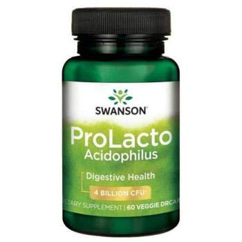 Swanson Probiotics ProLacto Acidophilus, 4 Billion CFU, 60 Vegetarian...