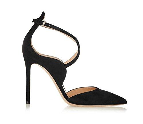 delle stivali stivali 41 con il donne ginocchio zampe sopra aguzzi XIE 39 alti punta tacco laser discoteche flanella q4SBntxv