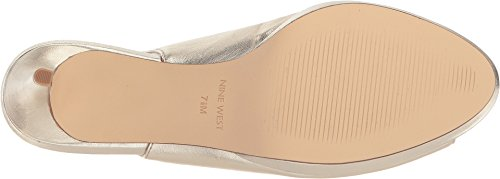 Nine West Women's Gabrielle Leather Dress Pump Light Gold Metallic buy cheap finishline clearance comfortable clearance lowest price brand new unisex for sale 2015 new sale online X1nS1RzszG