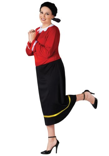 Olive Oyl Costume - Plus Size 1X/2X - Dress Size 16-24 (Olive Oyl Fancy Dress)