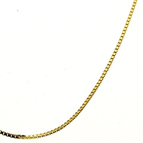 Pretty 18 Inch and 24 Inch Gold Box Chain Best Seller Party Necklace Gift for Women / Girls / - Platinum Finish Silver Sterling Antique