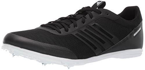adidas Men's Distancestar, Black/Black/White, 6.5 M US