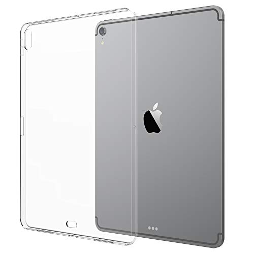 Luvvitt iPad Pro 11 Case Clarity Flexible TPU Slim and Light Back Cover for Apple iPad Pro 11 in 2018 - Clear (Updated Version)