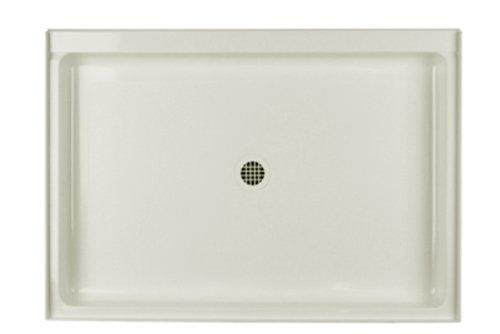 Swanstone R-3448-018 Veritek Center Drain Shower Base, 34-Inch by 48-Inch by 5-1/2-Inch, Bisque ()