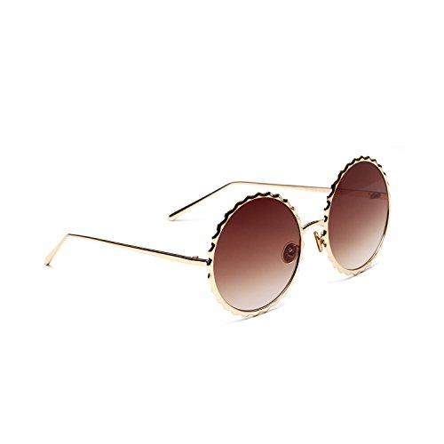 de Sol Polarizado Clásico metálico Aire Libre al Redondo Sunglasses polarizadas Vintage inspirado UV400 Gafas Portección Unisex 5qwUdBfgqP